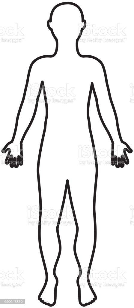 Anatomie De L Homme icône isolé silhouette anatomie de lhomme – cliparts vectoriels et