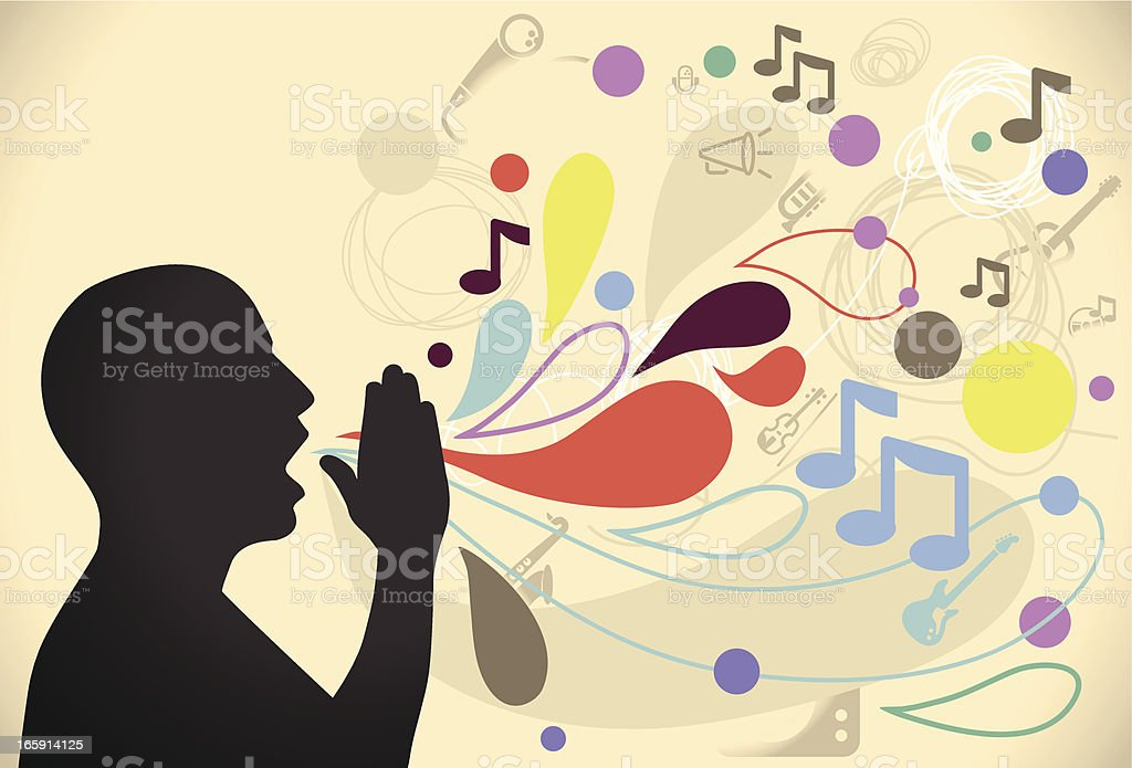 A man and an illustration of his voice royalty-free a man and an illustration of his voice stock vector art & more images of abstract