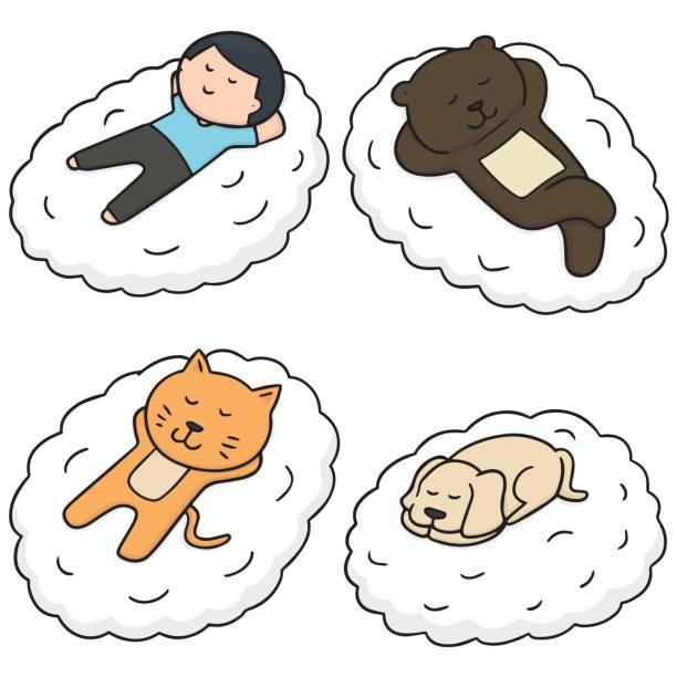 royalty free sleeping labrador clip art vector images