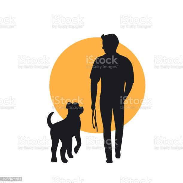Man and dog walking back view silhouette vector id1022675764?b=1&k=6&m=1022675764&s=612x612&h=z0 ndtxu7d4 ztqw9m azpkln 6fzpmogboaea5excw=
