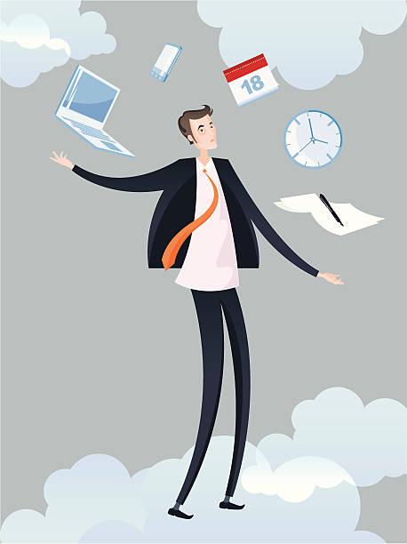 Człowiek i jego biuro wirtualne. – artystyczna grafika wektorowa