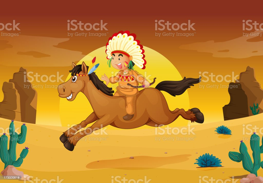 man and horse royalty-free stock vector art