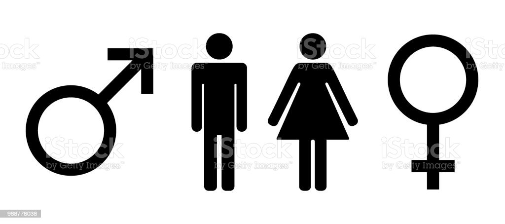 Man And Lady Toilet Icon Isolated Flat Design Male And Female Symbol