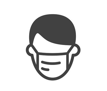 Man and Mask - Illustration