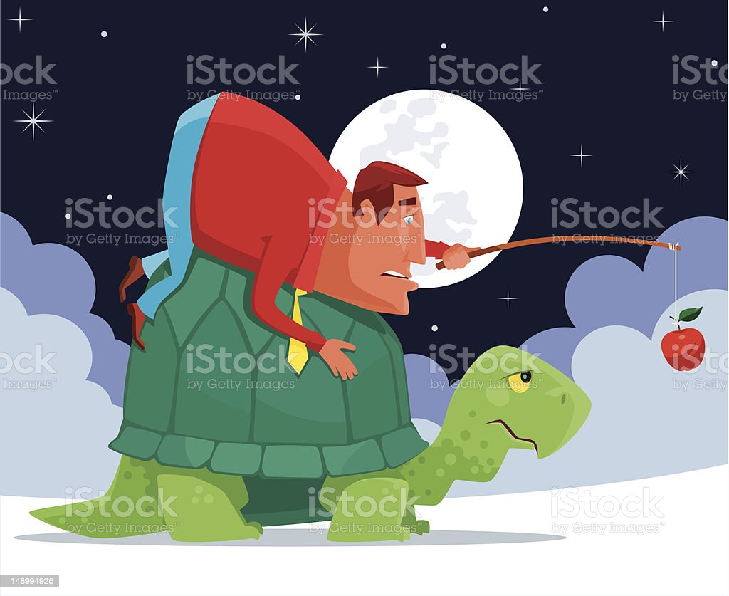 man and tortoise royalty-free man and tortoise stock vector art & more images of adult