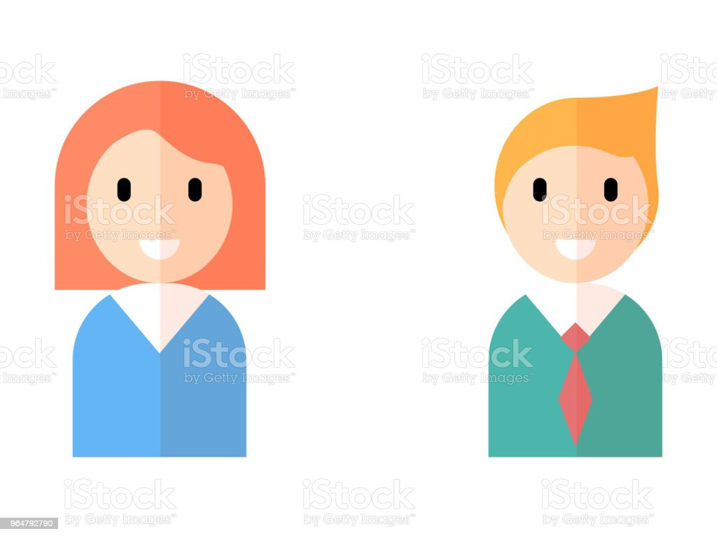 Man and woman avatar flat style icon royalty-free man and woman avatar flat style icon stock vector art & more images of adult