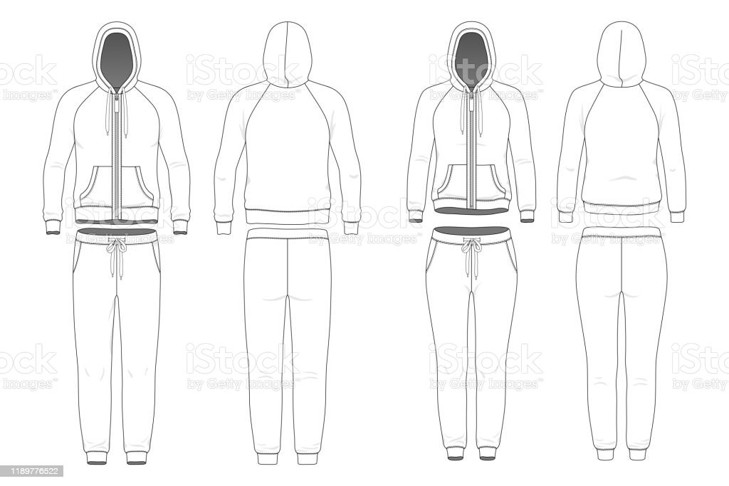 Man And Woman Clothing Set Stock Illustration Download Image Now Istock