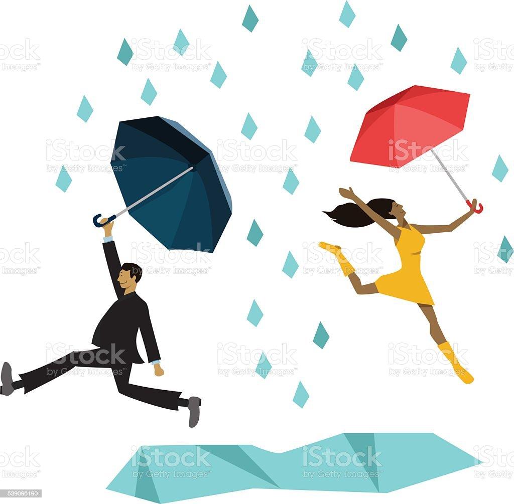 royalty free dancing rain clip art vector images illustrations rh istockphoto com Dance Clip Art Group Dancing Clip Art