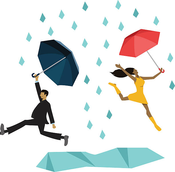 Royalty Free Cartoon Of Dancing In The Rain Clip Art ...