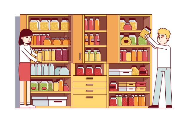 Food Pantry Illustrations, Royalty-Free Vector Graphics ...