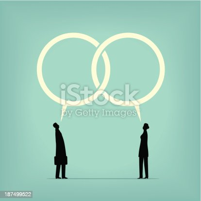 Two people talk together and reach an agreement.