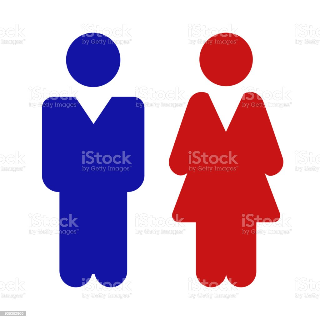 Man And Woman Icon On Isolated Background Modern Flat Pictogram Simple Symbol For
