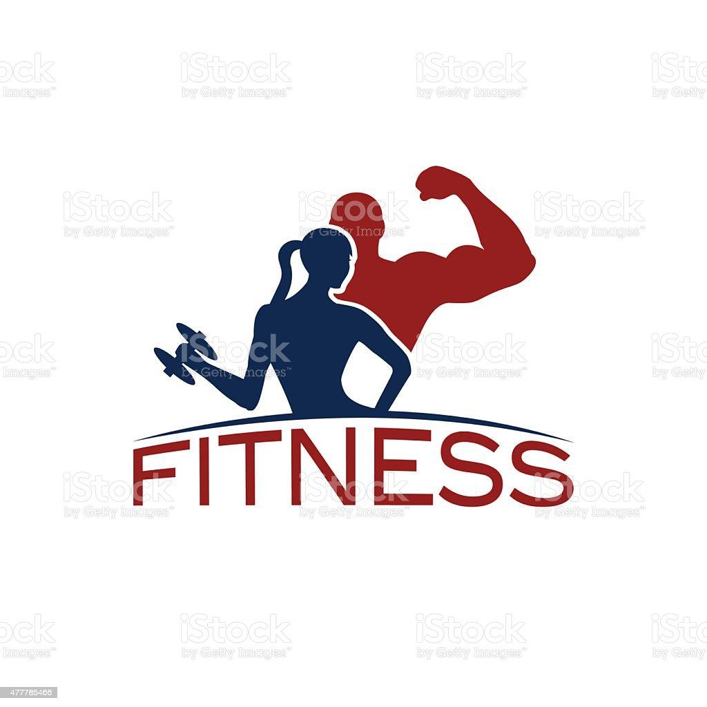 Hombre y mujer de fitness silueta de caracteres arte for Fitness gym hombres