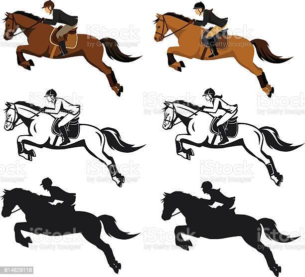 Man and woman riding jumping horse set vector id614629118?b=1&k=6&m=614629118&s=612x612&h=g8xxyaggxx5xcjr9yjfimprjnvszdnztxgqamltystc=