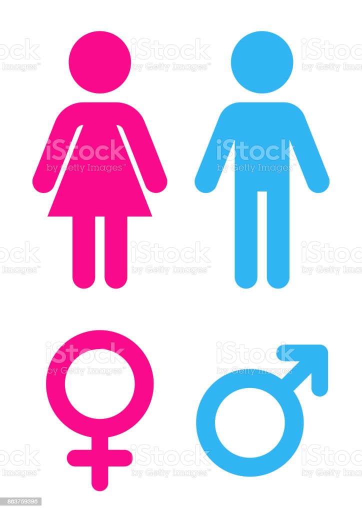 Man and woman - Sign toilet vector art illustration