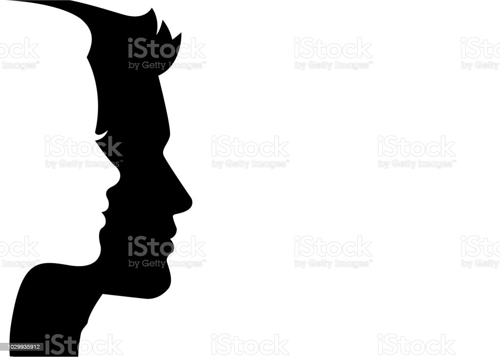 man and woman silhouette face on face stock vector stock illustration download image now istock man and woman silhouette face on face stock vector stock illustration download image now istock