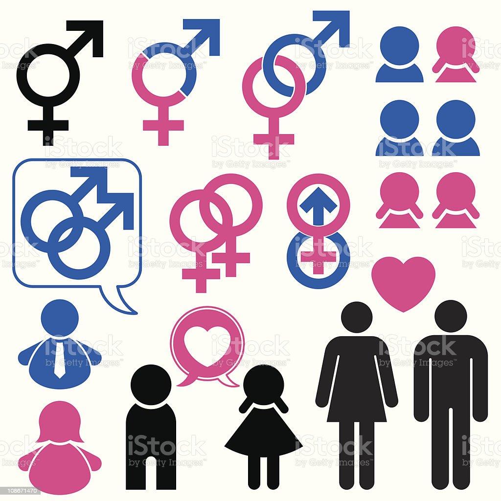 Ilustración De Hombre Y Mujer Símbolo De La Relación Y Más Banco De