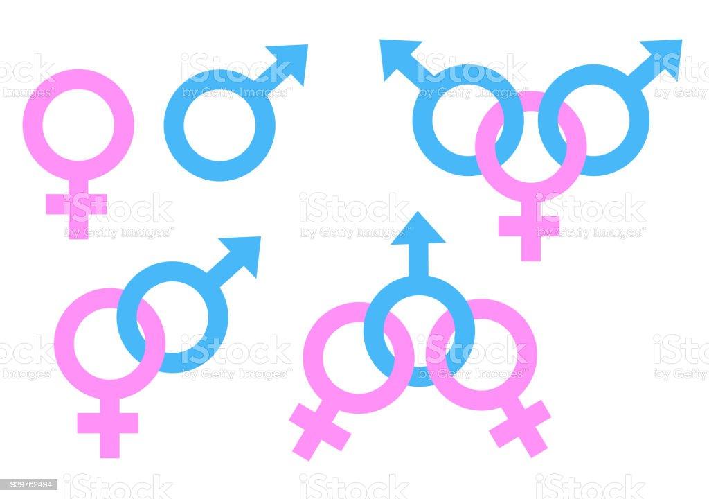 Ilustração de Homem E Mulher Símbolo Ilustração Vetorial De Estoque ... ff41de7bc47
