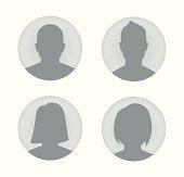 Man and woman user profile illustration