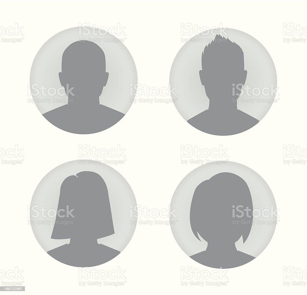Man and woman user profile illustration vector art illustration