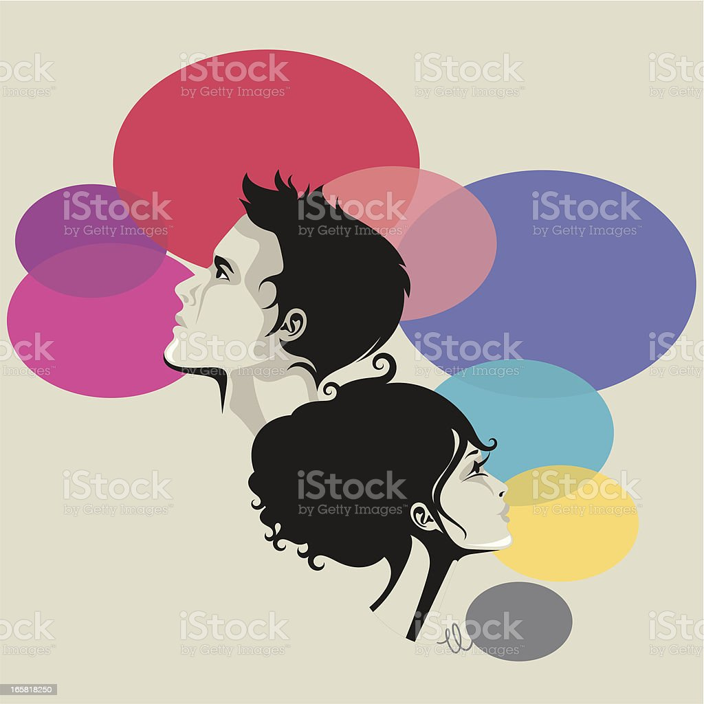 Man and woman. royalty-free stock vector art
