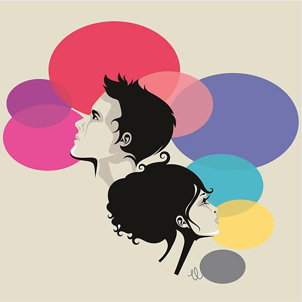Mężczyzna i kobieta. – artystyczna grafika wektorowa