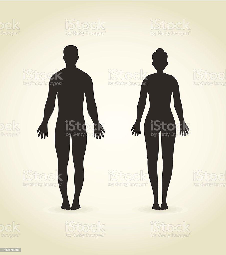 Man and woman vector art illustration