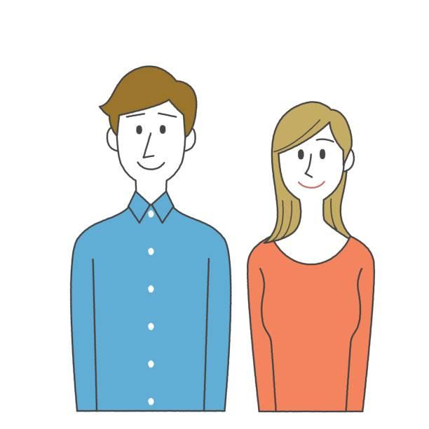 男性と女性  - 夫婦点のイラスト素材/クリップアート素材/マンガ素材/アイコン素材