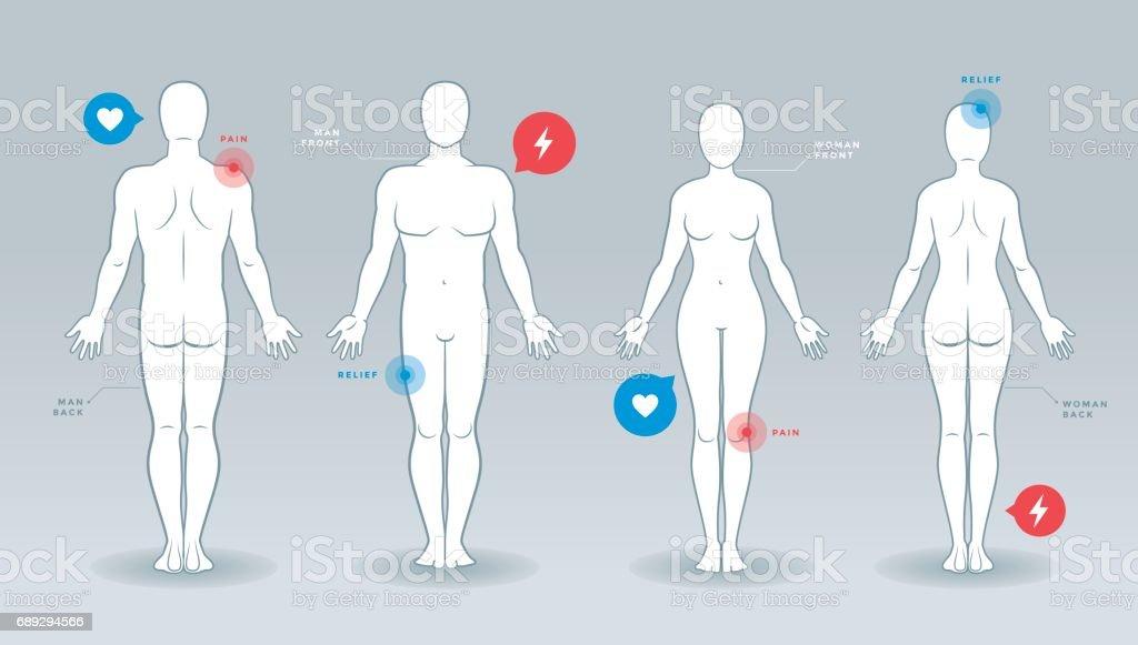 Mann und Frau Vector Silhouetten – Vektorgrafik