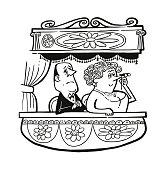 Man and Woman Watching an Opera
