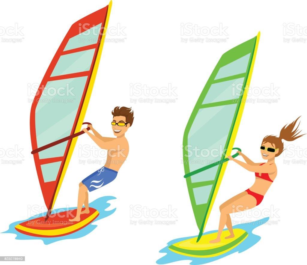royalty free windsurfing clip art vector images illustrations rh istockphoto com