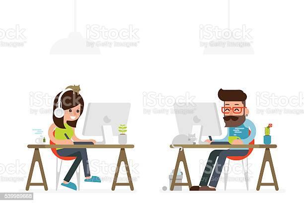 Man and woman working on computer vector id539989668?b=1&k=6&m=539989668&s=612x612&h=3al2cmdtohfcsipjnwc92hrp4wc8c  rgb2j2 5qho0=