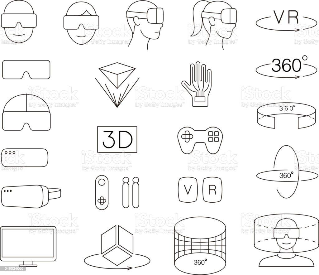 Mann und Frauen, die Virtual-Reality-Brille tragen. Spiele spielen – Vektorgrafik
