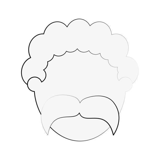 man avatar head icon image - old man faces pics stock illustrations, clip art, cartoons, & icons