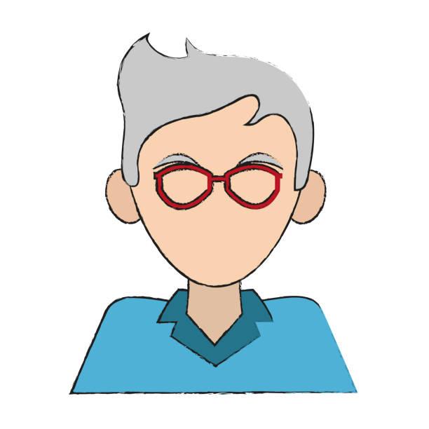 man avatar portrait icon image - old man faces pics stock illustrations, clip art, cartoons, & icons