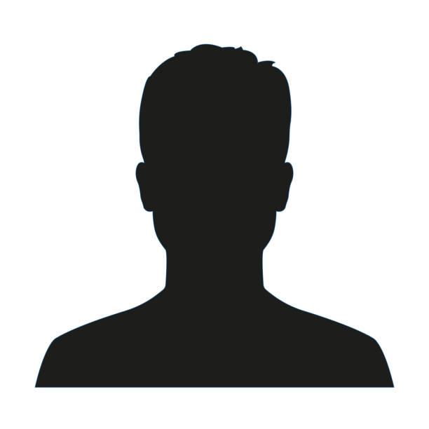 ilustrações, clipart, desenhos animados e ícones de perfil do avatar do homem. silhueta ou ícone masculino da face isolado no fundo branco. ilustração do vetor. - cabeça