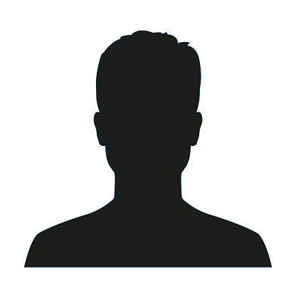 male silhouettes stock illustrations