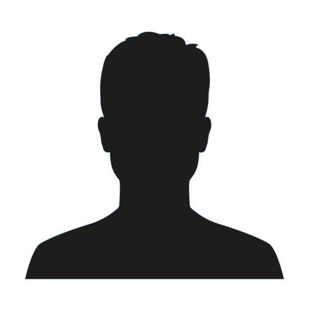 Man avatar profile. Male face silhouette or icon isolated on white background. Vector illustration. Man avatar profile. Male face silhouette or icon isolated on white background. Vector illustration. in silhouette stock illustrations