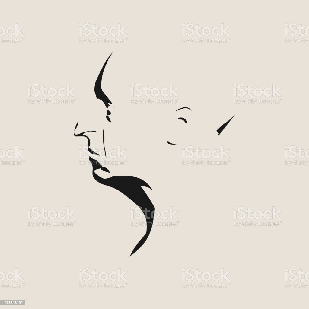 man avatar profile view male face silhouette stock vector