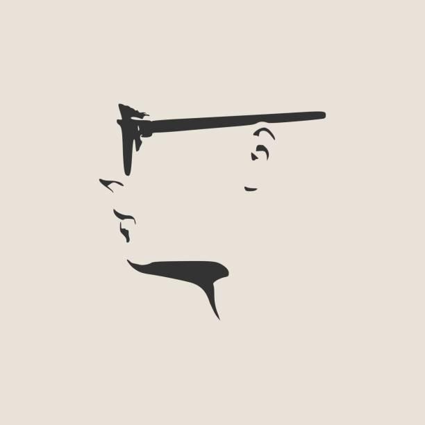 サングラス 男性 横顔 イラスト素材 Istock