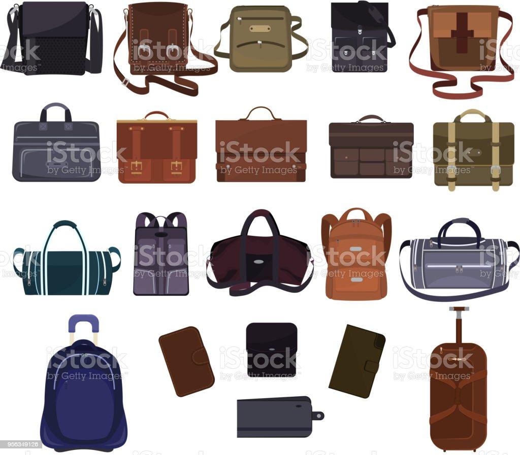 ff320b3e8f150 Hombre bolsa vector hombre moda negocios o bolso maletín y cuero notecase o  cartera de ilustración