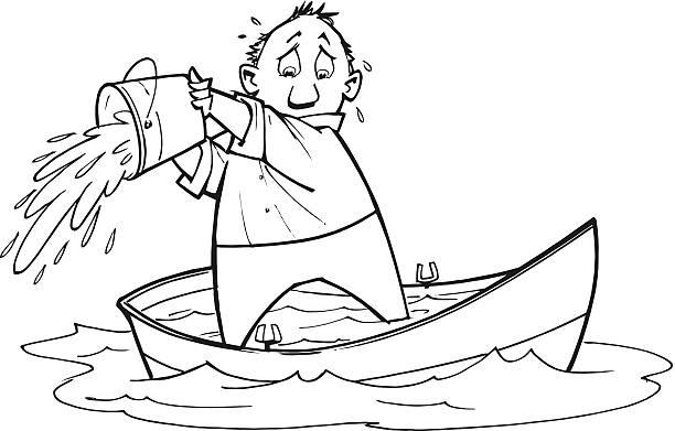 mann des drahts boot - gesunken stock-grafiken, -clipart, -cartoons und -symbole