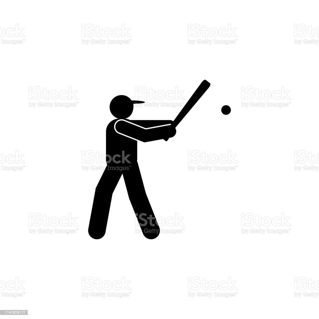 man ball sportive glyph icon. Element of baseball sport illustration...