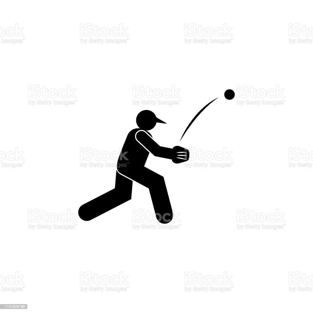man ball throw baseball glyph icon. Element of baseball sport...
