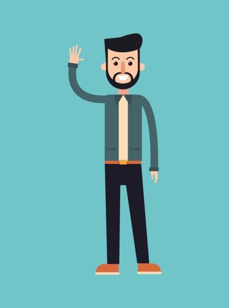 ilustrações, clipart, desenhos animados e ícones de moda de elegante homem barba penteado - moda urbana