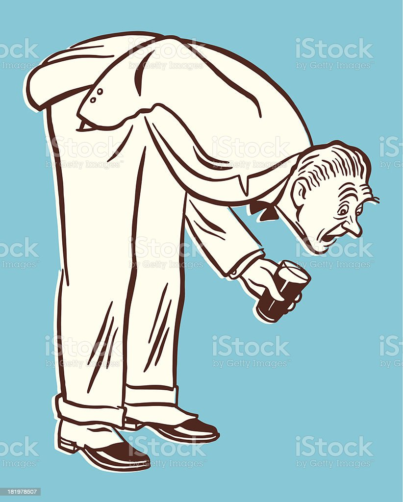 Man Bending Down to Look at Something royalty-free man bending down to look at something stock vector art & more images of adult