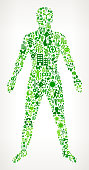 man Body Environmental Conservation and Nature interface icon Pattern
