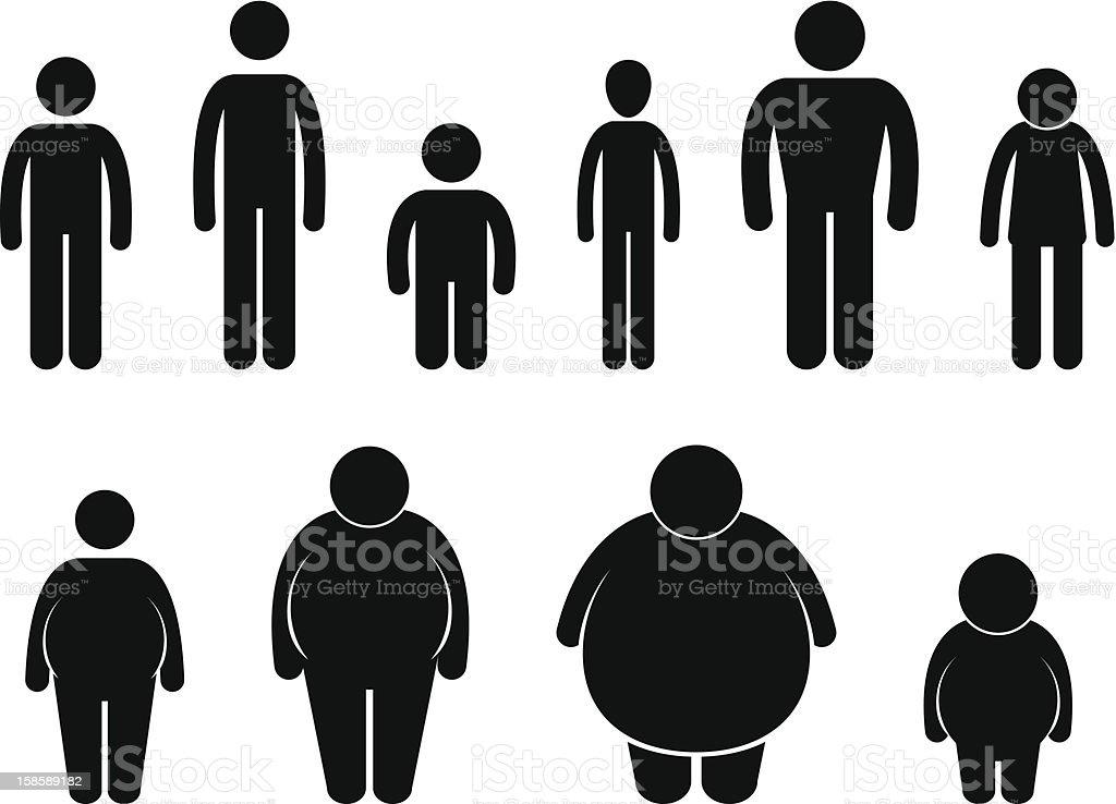 Man Body Figure Size Pictogram vector art illustration