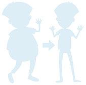 Man Body Transformation Silhouette