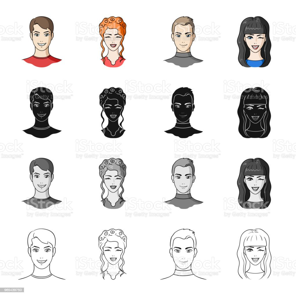 Man, brown, haired, and other web icon in cartoon style.Beauty salon, cosmetology, icons in set collection. royalty-free man brown haired and other web icon in cartoon stylebeauty salon cosmetology icons in set collection stock vector art & more images of adult